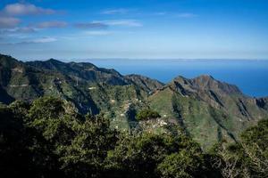 View of the Anaga Mountains over Tenerife photo