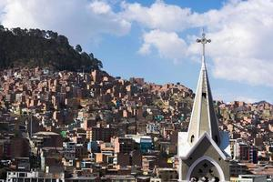 Cityview of La Paz, Bolivia photo
