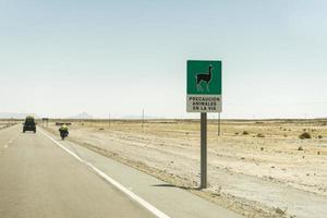 Llama signal on Bolivia Road photo