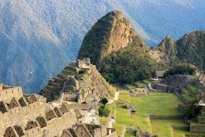 Inca sacred city view of Machu Picchu Peru photo