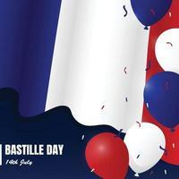Bastille Day 14th July Background Concept vector
