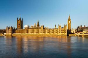 Elizabeth tower or Big Ben in London, United Kingdom. photo