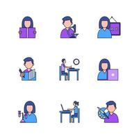 Set of Icons for School Activity vector