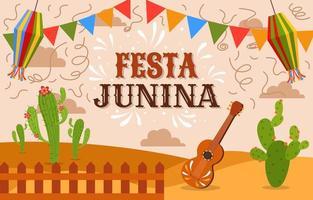 Festa Junina Festivity Background Concept vector