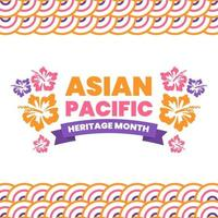Asian Pacific Heritage Month Background Concept vector