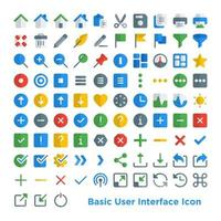 Basic User Interface Icon vector