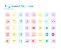 Alignment Set Icon Pixel Perfect vector