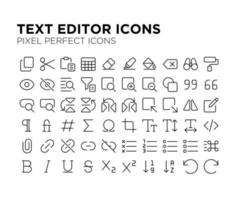 Text Editor Pixel Perfect Icon vector