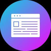 Browser News Icon vector