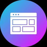 icono de diseño del navegador vector
