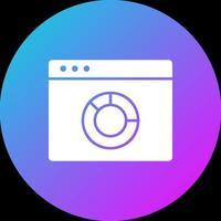 icono de gráfico circular del navegador vector
