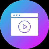 icono de video del navegador vector