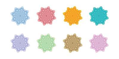 set of flower vector illustration design