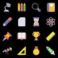 Education and Accessories vector