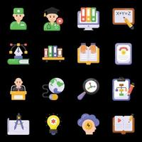 Medical and Learning icons vector