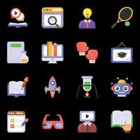 Science and Learning icons vector