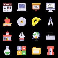 iconos de educación y equipo vector