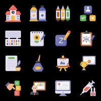 Painting Equipment and Drawing icons vector