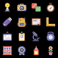 Learning and Accessories icons vector