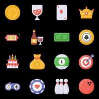 Casino and Games icons vector
