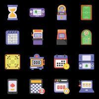 juegos de casino y arcade vector