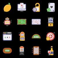 Games and casino icons vector