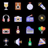 elementos de discoteca y fiesta. vector