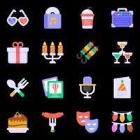 elementos de fiesta y música. vector