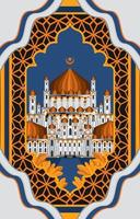 Ied Mosque Background Concept vector