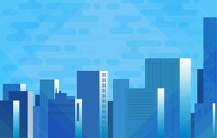 Abstract City Skycrapers Futuristic Background vector