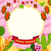 Celebration Background for Festa Junina vector