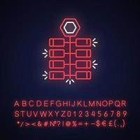 Chinese firecrackers neon light icon vector