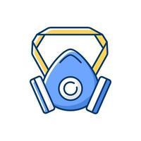 Respirator RGB color icon vector