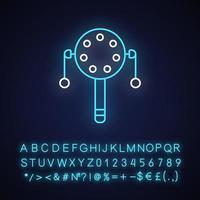 Pellet drum neon light icon vector