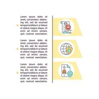Political independence concept line icons with text vector