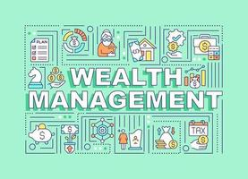 Wealth management word concepts banner vector