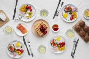 Brunch table spread photo