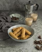 Arrangement of delicious tequenos dish photo