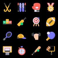 Sports and Equipment icons vector