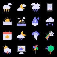 Weather and Overcast icons vector