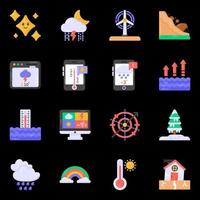 Meteorology and Weather Forecast icons vector