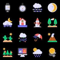 Weather Forecast Elements vector