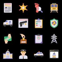 Police Services icons vector