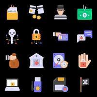 malware y piratería vector