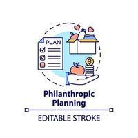 Philanthropic planning concept icon vector