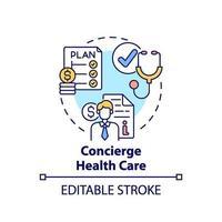 Concierge healthcare concept icon vector