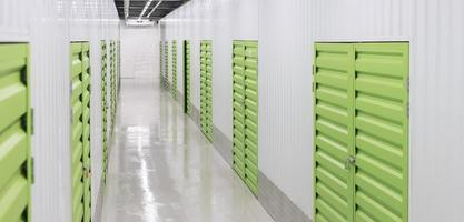 Logistic center with green storage units photo