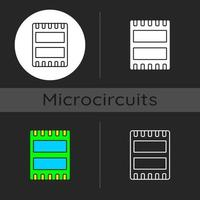 puerto de computadora icono de tema oscuro vector