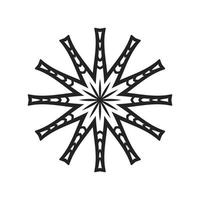 vector de diseño de plantilla de patrón de corte láser