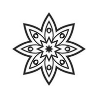 Laser Cutting Flower Pattern vector